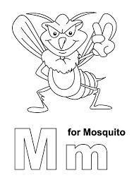 letter m for mosquito coloring page download u0026 print online