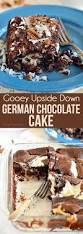 gooey upside down german chocolate cake