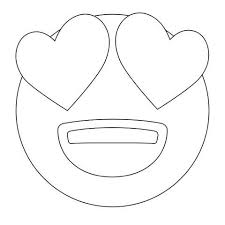 heart face emoji coloring pages emojis heart face