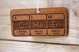 periodic table cheer ornament