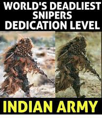 Meme Army - world s deadliest snipers dedication level indian army meme on me me
