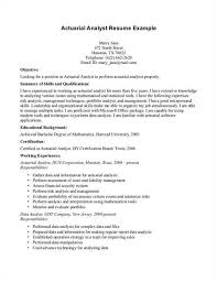 click to view a sample actuarial cover letter