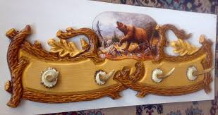 decorwood net furniture hanger wood carving with a painting