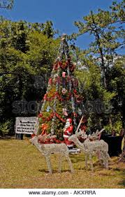 christmas tree decorated at town of christmas florida where the