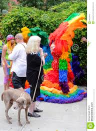 Queen S Dog Dog And Drag Queens In Rainbow Dresses Pride Parade Editorial