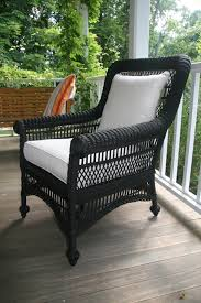 Black Wicker Furniture Simple Painted Black Wicker Furniture Chalk Paint Painting Cane