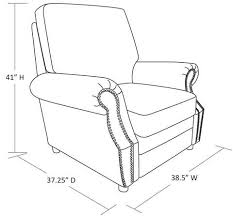 Armchair Measurements Better Homes And Gardens Nailhead Leather Recliner Multiple