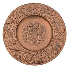 masterful pearson copper hammered charger or wall