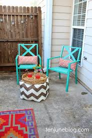 ten colorful outdoor patio makeover reveal