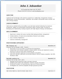 Entry Level Customer Service Resume Samples by Free Basic Resume Examples Resume Examples Education Summary Your