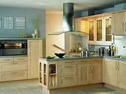 oak wooden kitchen cabinet with grey ceramic floor for retro