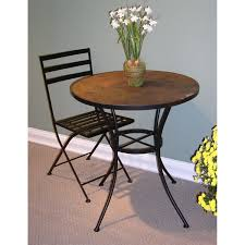 Edison Bistro Table 4d Concepts 601611 Round Bistro Table With Slate Top Homeclick Com