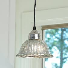 glass bell pendant light ribbed dome mercury glass shade pendant light mercury glass
