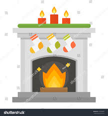 set vector fireplace icons fireplace design stock vector 477089089
