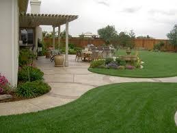 Landscaping Ideas For Backyard Backyard Cheap Outdoor Ideas For Backyard Small Concrete