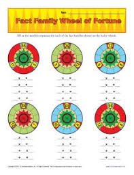 fact family worksheets wheel of fortune