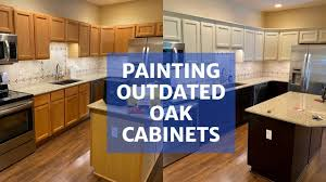 how do you clean painted wood cabinets painting oak cabinets transform your kitchen