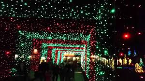 zoo lights at hogle zoo hogle zoo s zoo lights bridge youtube