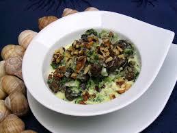 escargot cuisiné les escargots