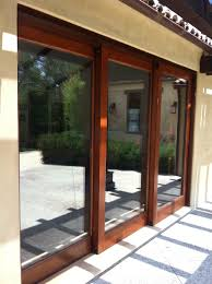 glass door wall exterior design sliding glass pella doors with brown wooden frame