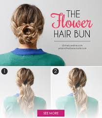 flower hair bun into the season with this flower hair bun bun tutorials