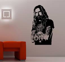 popular sticker 01 buy cheap sticker 01 lots from china sticker 01 rob zombie wall sticker white zombie singer decal heavy metal music decor mural american musician poster