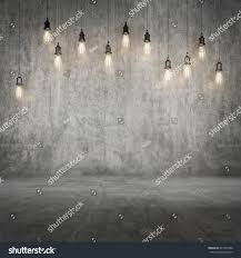 Concrete Wall by Mock Concrete Wall Floor Background Light Stock Illustration