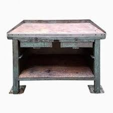 Work Bench With Vice Vintage French Industrial Workbench With Vice For Sale At Pamono