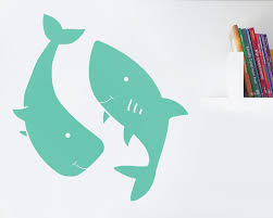 happy whale happy shark your decal shop nz designer wall art happy whale happy shark
