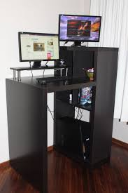 Small Stand Up Desk Black Metal Small Standing Desk On The Wall Furniture Great