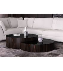 round nesting coffee table contemporary round nesting coffee table ebony