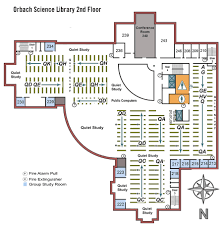 orbach science library floor maps ucr library