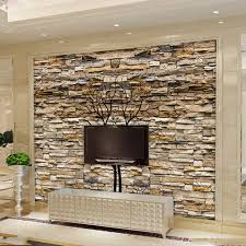 custom photo wallpaper 3d stone wall trunk wallpaper living room
