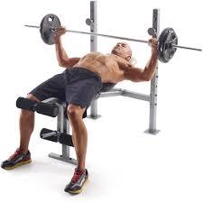 Leg Developer Bench Weight Bench Olympic Set W Weights Adjustable Rack Workout