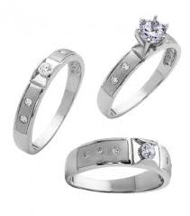 wedding band sets his and hers band sets his and hers trio sterling silver
