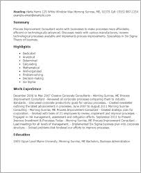 Telemetry Nurse Resume Sample by Professional Process Improvement Consultant Templates To Showcase