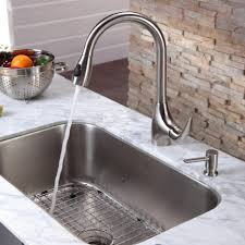 Installing Kitchen Sink Faucet Kitchen Stainless Steel Kitchen Sink Combination Kraususa Within