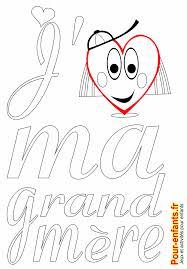 Fête des grands mères coloriage à imprimer amour de grand mère mamie