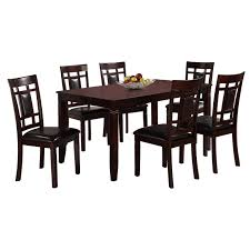 7 piece paige wood dining set table at home at home 7 piece paige wood dining set table