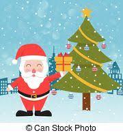 vectors of reindeer santa claus christmas tree gift box
