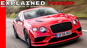 bentley car pink 2017 bentley continental gt supersports explained youtube