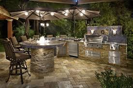 outdoor kitchen backsplash amazing umbrella with superb lights for chic outdoor kitchen