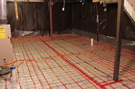 radiant floor heating basement the need for the radiant floor