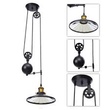 Pulley Pendant Light Retro Vintage Edison Industrial Pulley Pendant Light Artistic