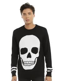 skull sweater rude black white skull sweater topic