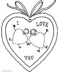 valentine coloring kid 031