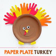 Monkey Paper Plate Craft - paper plate turkey craft i arts n crafts