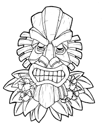 13 best images of tiki head coloring pages printable tiki mask