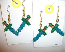 minecraft earrings minecraft earring etsy