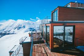 check out this new ski resort built out of reused shipping